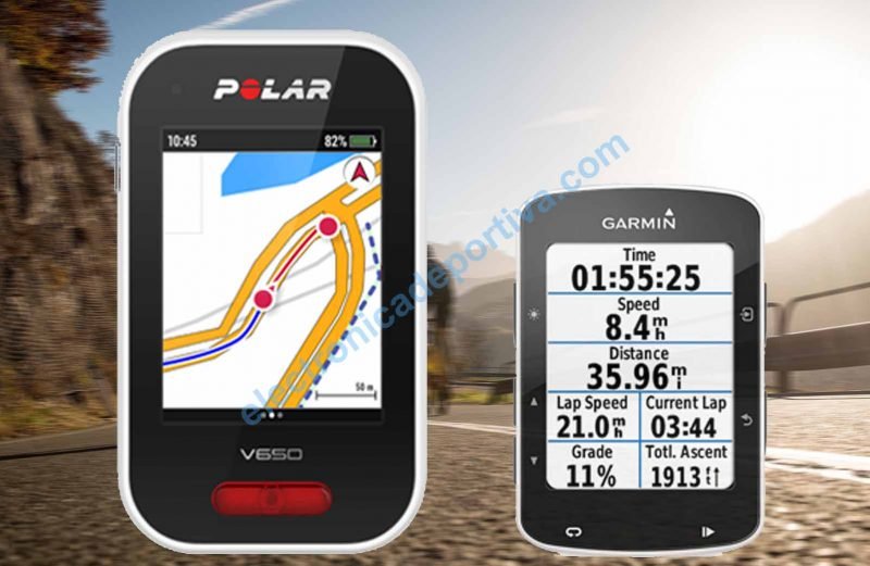 Garmin Edge 520 vs Polar V650